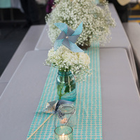 Aqua and Gray Tablescapes