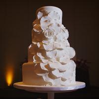 Glamorous Fondant Flower Cake