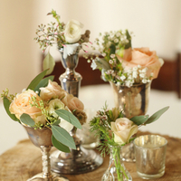 Silver Bud Vase Arrangements
