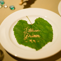Spring Leaf Place Cards
