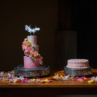 Whimsical Ombre Wedding Cake