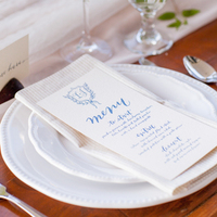 Blue & White Spring Place Settings