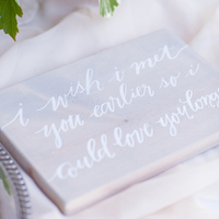 Romantic Grey and White Sign