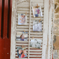 Vintage Shutter Photo Display