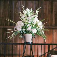 Rustic Elegant Reception Flowers