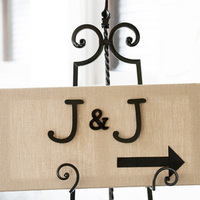 J & J Wedding Sign