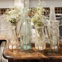 Vintage Bottle Floral Arrangements