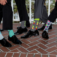 Bright Groomsmen Socks