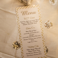 Gold Chevron Menu Cards