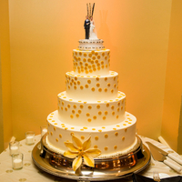 Gold Dot Wedding Cake