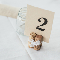Wine Cork Table Numbers