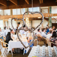 Rustic Hanging Heart Decor