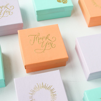 DIY: Gold Embossed Favor Boxes