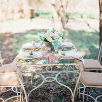 Vintage Iron Garden Tables