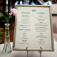 Vintage Framed Menu