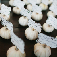 Pumpkin Escort Cards