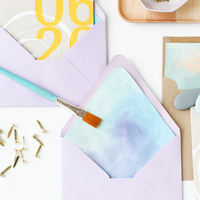 DIY: Watercolor Envelope Liners