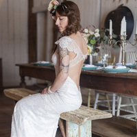 Dramatic Bridal Gown Back
