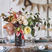 Blush Country Style Centerpieces