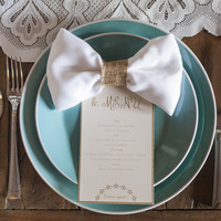 Turquoise & Beige Place Settings