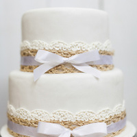 Seagrass and Lace Cake