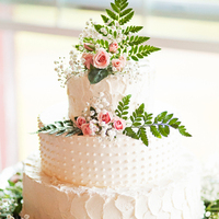 Rustic Romantic Wedding Cake