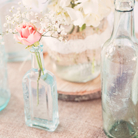 Blue Bottle Centerpieces