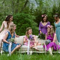 Colorful Bohemian Bridesmaids