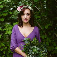 Rustic Purple Bridesmaid Look