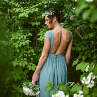 Romantic Forest Bridesmaid Look