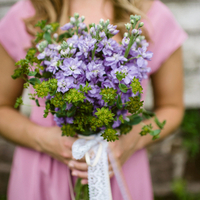 Purple Stock Bridesmaid Bouquet