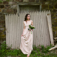 Relaxed Romantic Bridesmaid Look