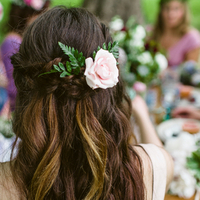 Pink Rose Hair Embellishment