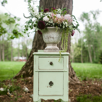Vintage Mint Floral Display