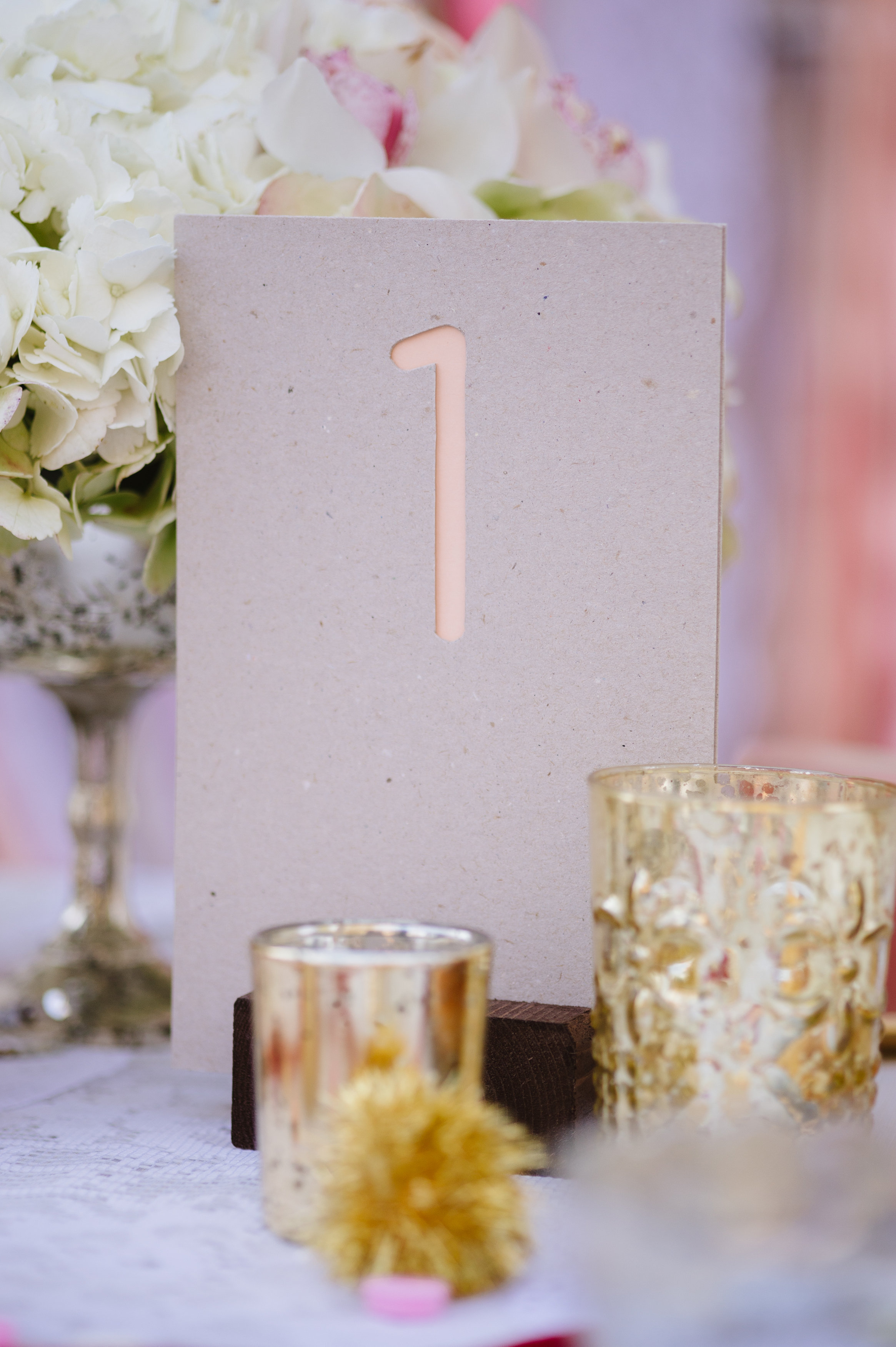 Modern Table Numbers