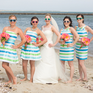 Striped Lilly Bridesmaid Dresses