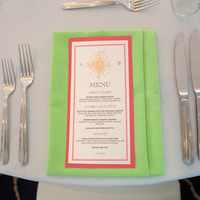 Preppy Beach Menu Cards