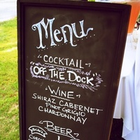 custom drink board/ chalk paint on an old sign