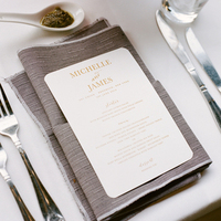 Gray and Gold Place Settings