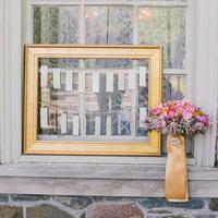 Gold Frame Escort Card Display