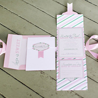 Candy Striped Invitation