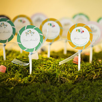 Lollipop Themed Escort Cards