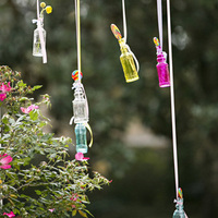 Colored Hanging Vases