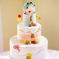 Whimsical Candy Cake