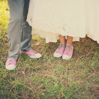 Pink Converse Wedding Shoes