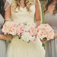 Romantic Pink and Ivory Bouquets