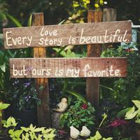 Rustic Romantic Sign