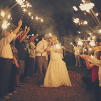Jessie and Chad's Sparkler Exit