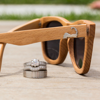 Rings and Woodgrain Sunglasses