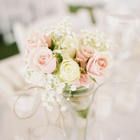 Pastel Rose Centerpieces